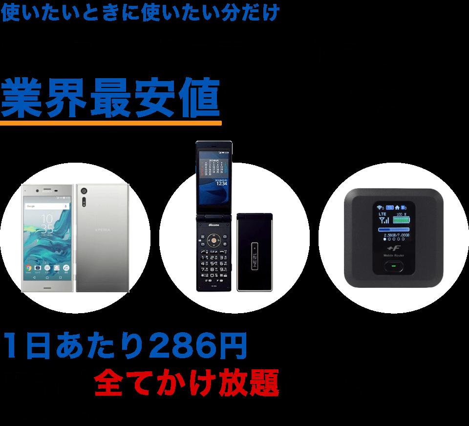 使いたい時に使いたい分だけ ガラケー・スマホ・Wi-Fiを業界最安値でレンタル! Wi-Fi:200円、スマホ:50円~、ガラケー:180円 ※料金は全て税抜き価格です。SIMカードをレンタルされる場合は、別途料金がかかります。 法人向けレンタル携帯 1日50円~提供 ご利用日数での請求 最少1台、最大数100台まで対応可能 1日のみご契約も可能